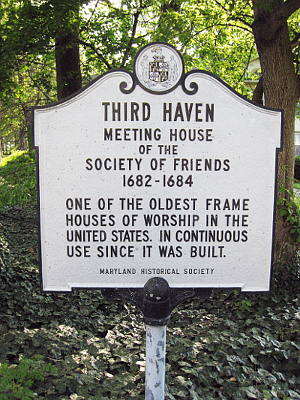 Third Haven Friends Meeting historical sign